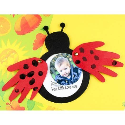 Love Bug Card Kids Mothers Day DIY Homemade Crafting Gift Ideas Inspiration How To Make Tutorials Recipes Gifts To Make