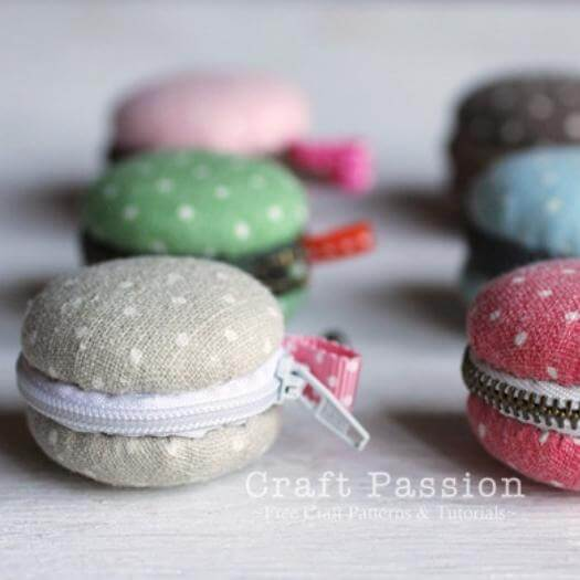 Macaron Coin Purse Sister Mothers Day DIY Homemade Crafting Gift Ideas Inspiration How To Make Tutorials Recipes Gifts To Make