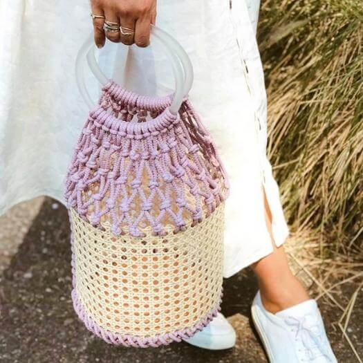 Macrame Bucket Bag Best Mothers Day DIY Homemade Crafting Gift Ideas Inspiration How To Make Tutorials Recipes Gifts To Make