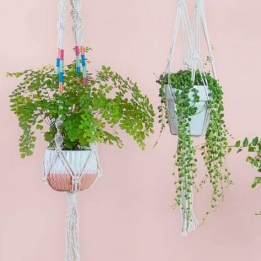 Macramé Plant Hanger Grandma Mothers Day DIY Homemade Crafting Gift Ideas Inspiration How To Make Tutorials Recipes Gifts To Make