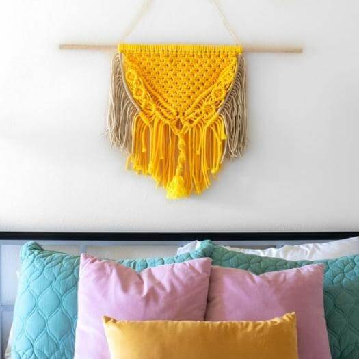 Macrame Wall Art Best Mothers Day DIY Homemade Crafting Gift Ideas Inspiration How To Make Tutorials Recipes Gifts To Make