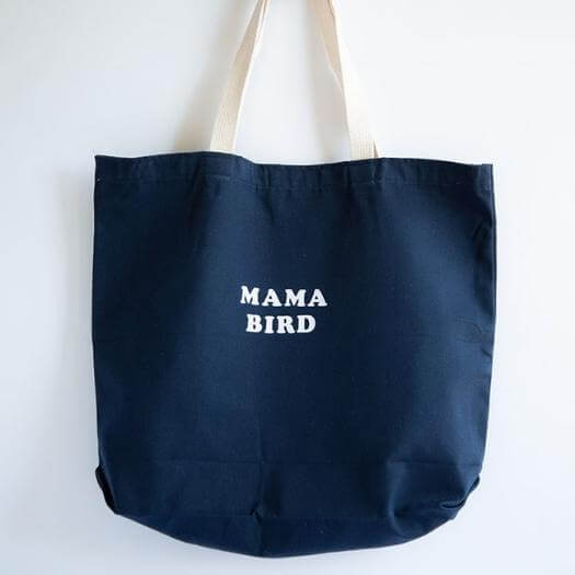 Mama Bird Tote Best Mothers Day DIY Homemade Crafting Gift Ideas Inspiration How To Make Tutorials Recipes Gifts To Make