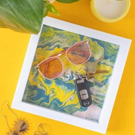 Marbled Tray Best Mothers Day DIY Homemade Crafting Gift Ideas Inspiration How To Make Tutorials Recipes Gifts To Make