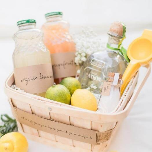 Margarita Gift Basket Cheap Affordable Mothers Day DIY Homemade Crafting Gift Ideas Inspiration How To Make Tutorials Recipes Gifts To Make