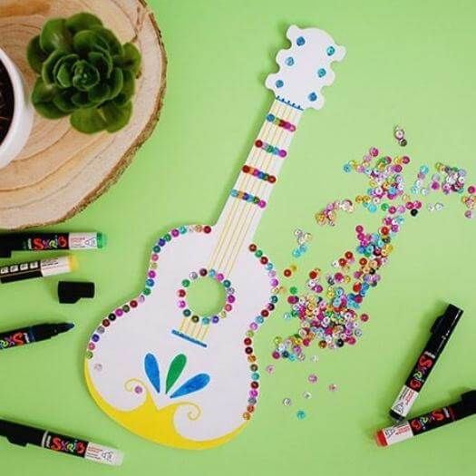 Mariachi Guitar Mexican Mothers Day DIY Homemade Crafting Gift Ideas Inspiration How To Make Tutorials Recipes Gifts To Make