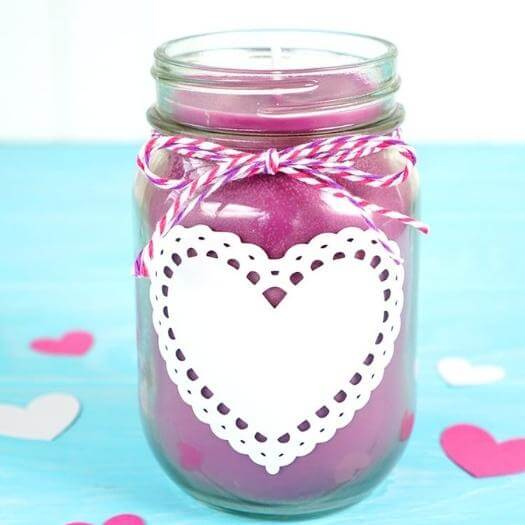 Mason Jar Candles Cheap Affordable Mothers Day DIY Homemade Crafting Gift Ideas Inspiration How To Make Tutorials Recipes Gifts To Make