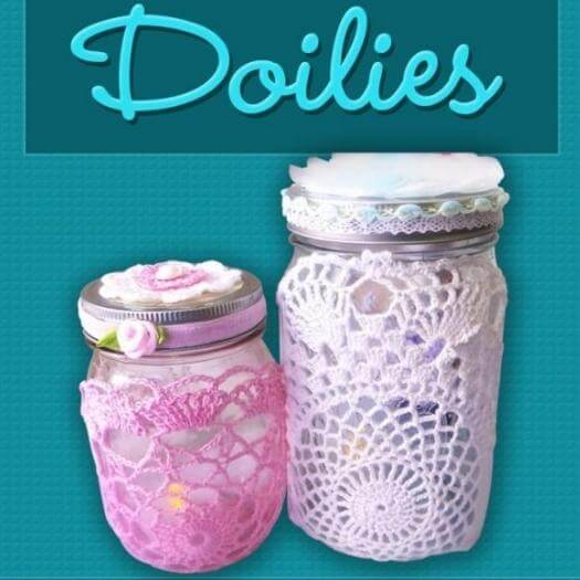 Mason Jar Doilies Easy Last Minute Mothers Day DIY Homemade Crafting Gift Ideas Inspiration How To Make Tutorials Recipes Gifts To Make