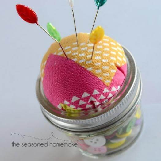 Mason Jar Pin Cushion Sister Mothers Day DIY Homemade Crafting Gift Ideas Inspiration How To Make Tutorials Recipes Gifts To Make