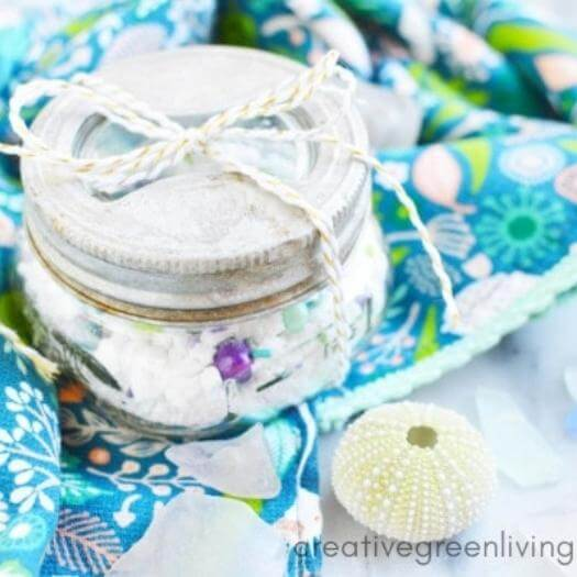 Mermaid Bath Dust Sister Mothers Day DIY Homemade Crafting Gift Ideas Inspiration How To Make Tutorials Recipes Gifts To Make