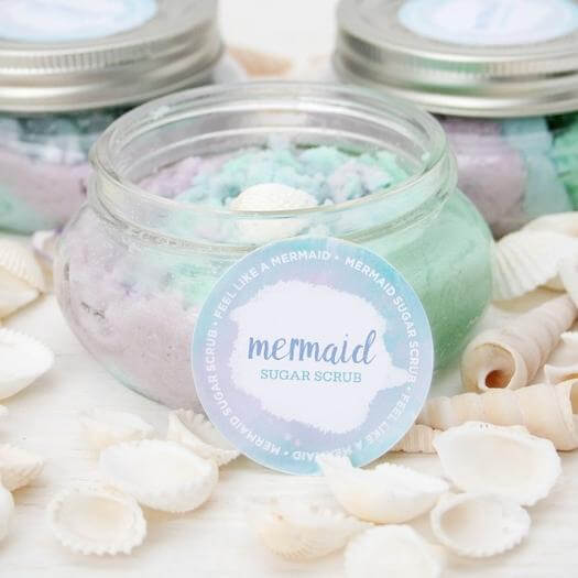 Mermaid Scrub Best Friend Mothers Day DIY Homemade Crafting Gift Ideas Inspiration How To Make Tutorials Recipes Gifts To Make
