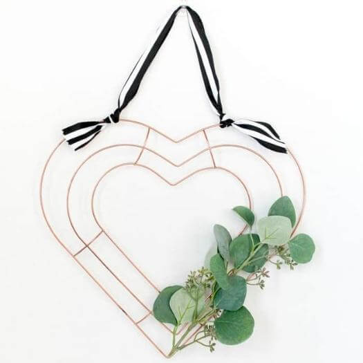 Metal Heart Wreath Cheap Affordable Mothers Day DIY Homemade Crafting Gift Ideas Inspiration How To Make Tutorials Recipes Gifts To Make