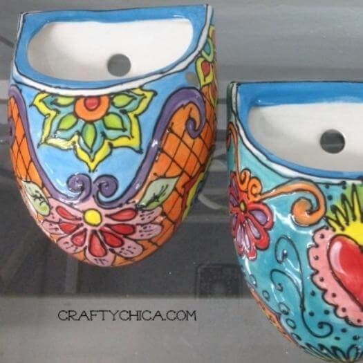 Mexican Painted Planters Mexican Mothers Day DIY Homemade Crafting Gift Ideas Inspiration How To Make Tutorials Recipes Gifts To Make