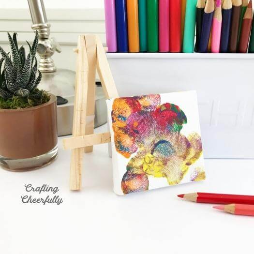 Mini Canvas Unique Mothers Day DIY Homemade Crafting Gift Ideas Inspiration How To Make Tutorials Recipes Gifts To Make