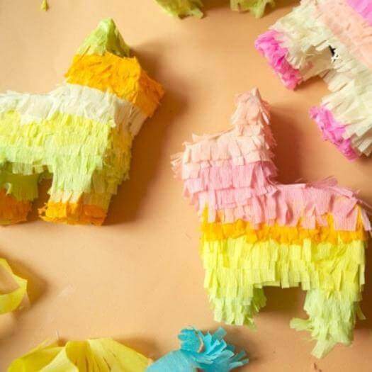 Mini Donkey Pinatas Mexican Mothers Day DIY Homemade Crafting Gift Ideas Inspiration How To Make Tutorials Recipes Gifts To Make