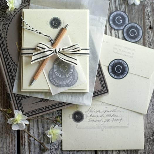 Monogrammed Stationery Cheap Affordable Mothers Day DIY Homemade Crafting Gift Ideas Inspiration How To Make Tutorials Recipes Gifts To Make