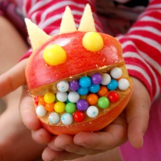 Monster Apple Face Funny Mothers Day DIY Homemade Crafting Gift Ideas Inspiration How To Make Tutorials Recipes Gifts To Make