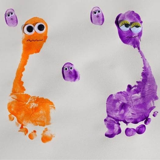 Monster Art Funny Mothers Day DIY Homemade Crafting Gift Ideas Inspiration How To Make Tutorials Recipes Gifts To Make