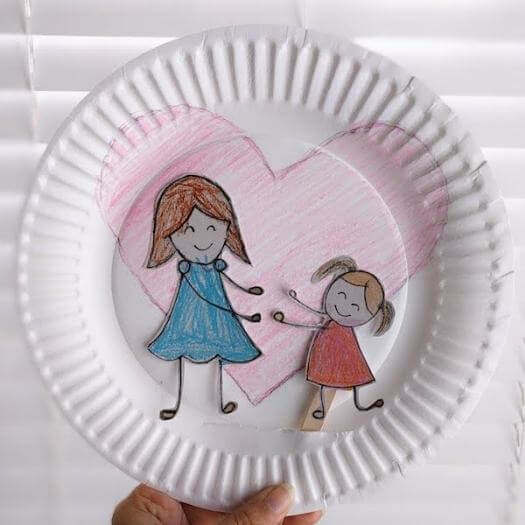 Mother Child Hug Craft Kids Mothers Day DIY Homemade Crafting Gift Ideas Inspiration How To Make Tutorials Recipes Gifts To Make