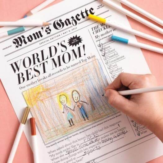 Mother's Day Newspaper Cheap Affordable Mothers Day DIY Homemade Crafting Gift Ideas Inspiration How To Make Tutorials Recipes Gifts To Make