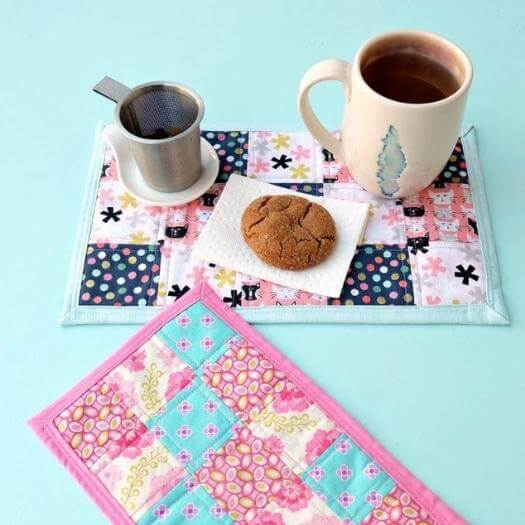Mug Rug Personalized Mothers Day DIY Homemade Crafting Gift Ideas Inspiration How To Make Tutorials Recipes Gifts To Make