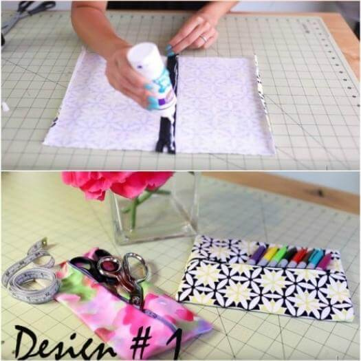 No Sew Makeup Bag Easy Last Minute Mothers Day DIY Homemade Crafting Gift Ideas Inspiration How To Make Tutorials Recipes Gifts To Make