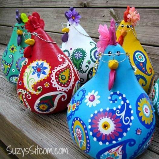 Paisley Chickens Mexican Mothers Day DIY Homemade Crafting Gift Ideas Inspiration How To Make Tutorials Recipes Gifts To Make