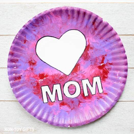 Paper Plate Craft Kids Mothers Day DIY Homemade Crafting Gift Ideas Inspiration How To Make Tutorials Recipes Gifts To Make