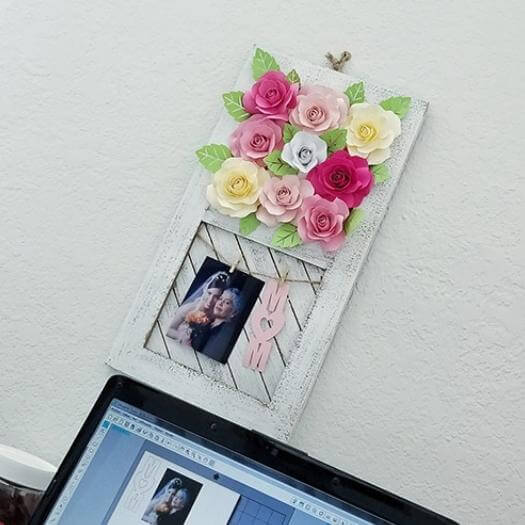 Paper Rose Rustic Frame Best Mothers Day DIY Homemade Crafting Gift Ideas Inspiration How To Make Tutorials Recipes Gifts To Make