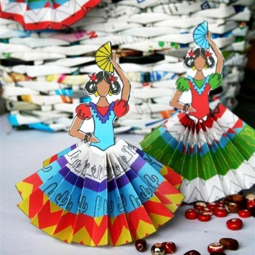 Paper Rosettes Mexican Mothers Day DIY Homemade Crafting Gift Ideas Inspiration How To Make Tutorials Recipes Gifts To Make