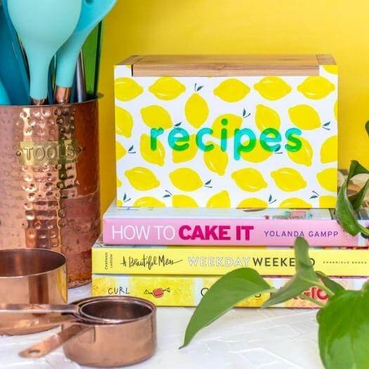 Patterned Recipe Box Best Mothers Day DIY Homemade Crafting Gift Ideas Inspiration How To Make Tutorials Recipes Gifts To Make