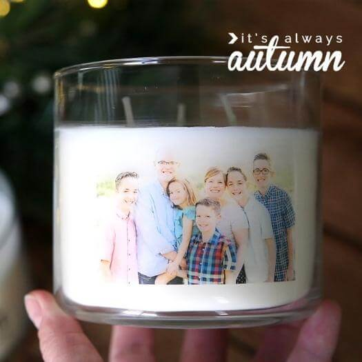 Personalized Photo Candle Personalized Mothers Day DIY Homemade Crafting Gift Ideas Inspiration How To Make Tutorials Recipes Gifts To Make