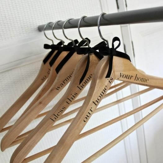 Personalized Wood Hangers Personalized Mothers Day DIY Homemade Crafting Gift Ideas Inspiration How To Make Tutorials Recipes Gifts To Make
