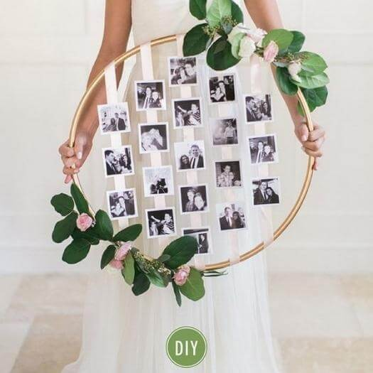 Photo Hoop Personalized Mothers Day DIY Homemade Crafting Gift Ideas Inspiration How To Make Tutorials Recipes Gifts To Make