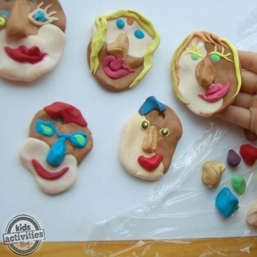 Picasso Inspired Ornaments Funny Mothers Day DIY Homemade Crafting Gift Ideas Inspiration How To Make Tutorials Recipes Gifts To Make