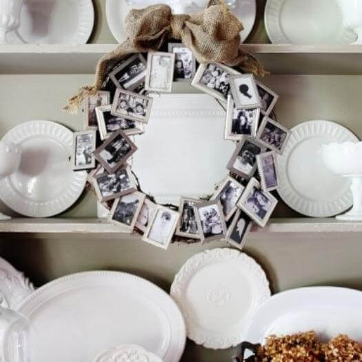 Picture Frame Wreath Unique Mothers Day DIY Homemade Crafting Gift Ideas Inspiration How To Make Tutorials Recipes Gifts To Make