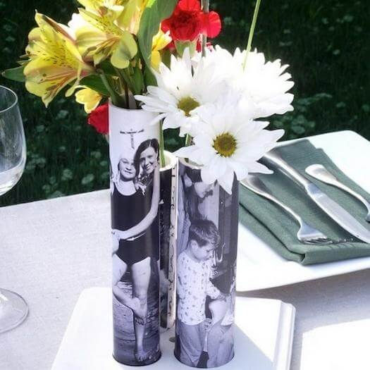Picture Vase Personalized Mothers Day DIY Homemade Crafting Gift Ideas Inspiration How To Make Tutorials Recipes Gifts To Make