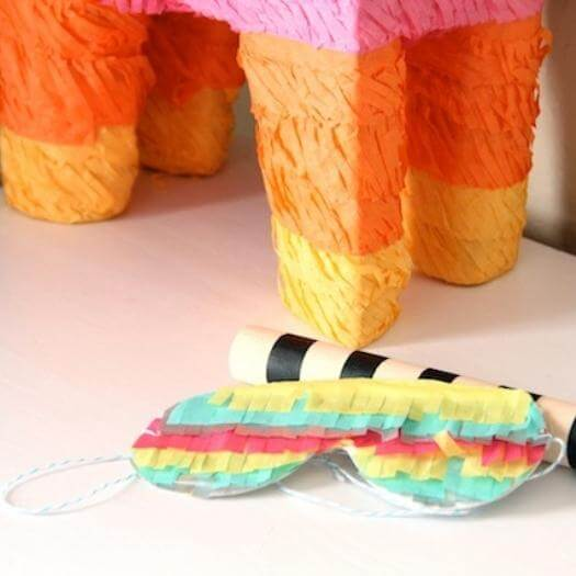 Pinata Blindfold Mexican Mothers Day DIY Homemade Crafting Gift Ideas Inspiration How To Make Tutorials Recipes Gifts To Make