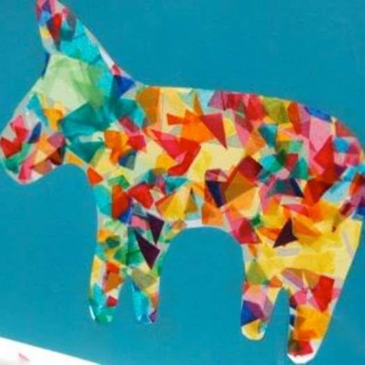 Piñata Suncatcher Mexican Mothers Day DIY Homemade Crafting Gift Ideas Inspiration How To Make Tutorials Recipes Gifts To Make