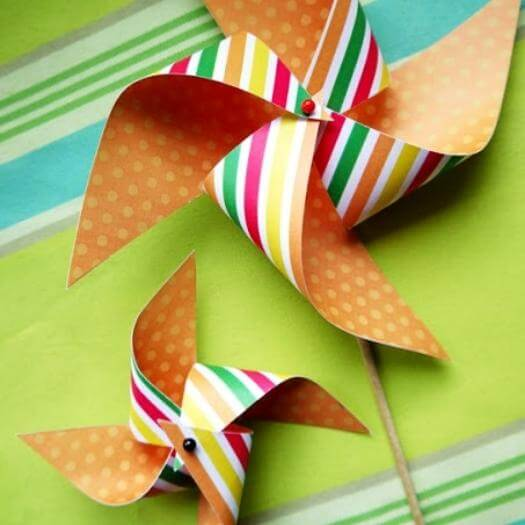 Pinwheel Cupcake Topper Mexican Mothers Day DIY Homemade Crafting Gift Ideas Inspiration How To Make Tutorials Recipes Gifts To Make