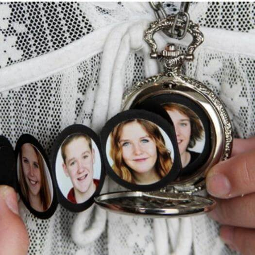 Pocket Watch Album Personalized Mothers Day DIY Homemade Crafting Gift Ideas Inspiration How To Make Tutorials Recipes Gifts To Make