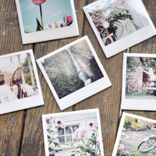 Polaroid Coasters Cheap Affordable Mothers Day DIY Homemade Crafting Gift Ideas Inspiration How To Make Tutorials Recipes Gifts To Make