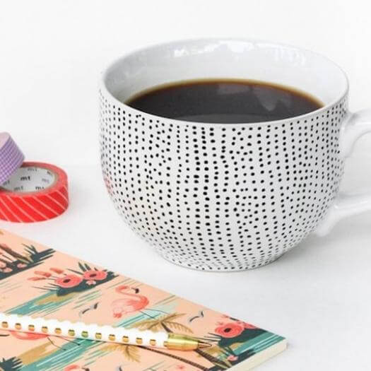 Polka Dot Mug Best Mothers Day DIY Homemade Crafting Gift Ideas Inspiration How To Make Tutorials Recipes Gifts To Make