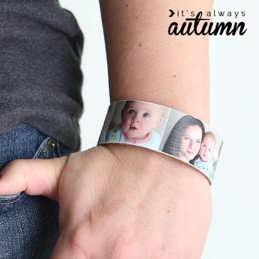 Popsicle Stick Photo Bracelet Easy Last Minute Mothers Day DIY Homemade Crafting Gift Ideas Inspiration How To Make Tutorials Recipes Gifts To Make