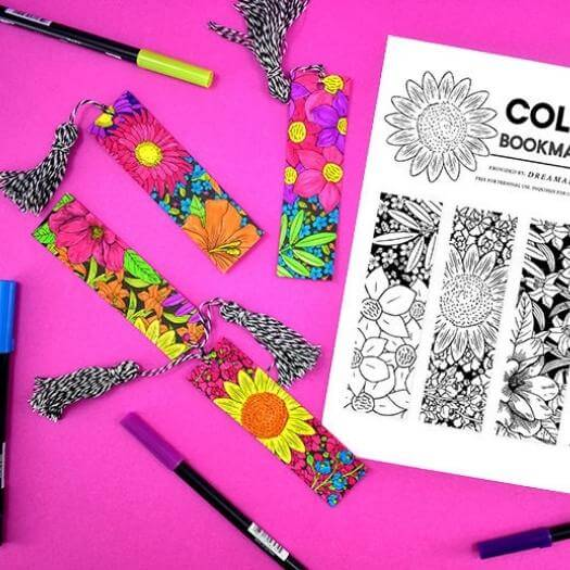 Printable Colored Bookmarks Best Mothers Day DIY Homemade Crafting Gift Ideas Inspiration How To Make Tutorials Recipes Gifts To Make
