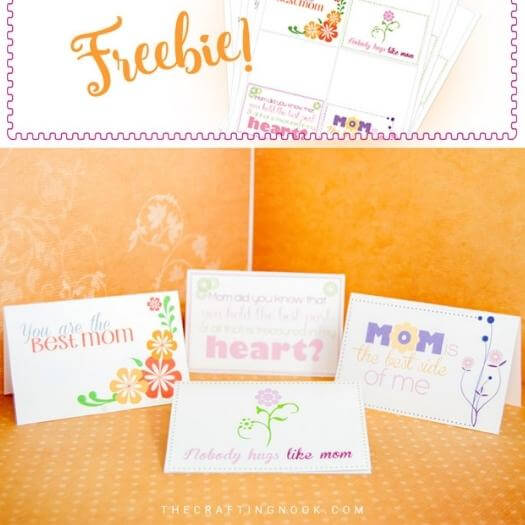 Printable Mini Cards Easy Last Minute Mothers Day DIY Homemade Crafting Gift Ideas Inspiration How To Make Tutorials Recipes Gifts To Make