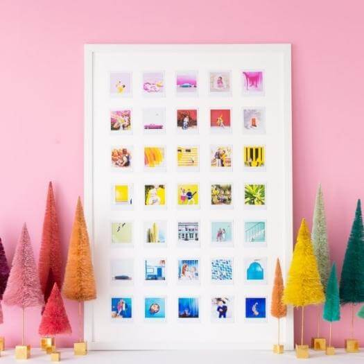 Rainbow Photo Collage Best Mothers Day DIY Homemade Crafting Gift Ideas Inspiration How To Make Tutorials Recipes Gifts To Make