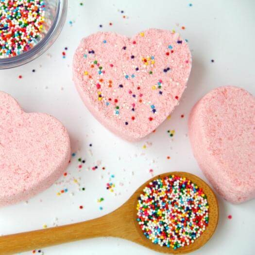 Rainbow Sprinkle Bath Bombs Personalized Mothers Day DIY Homemade Crafting Gift Ideas Inspiration How To Make Tutorials Recipes Gifts To Make