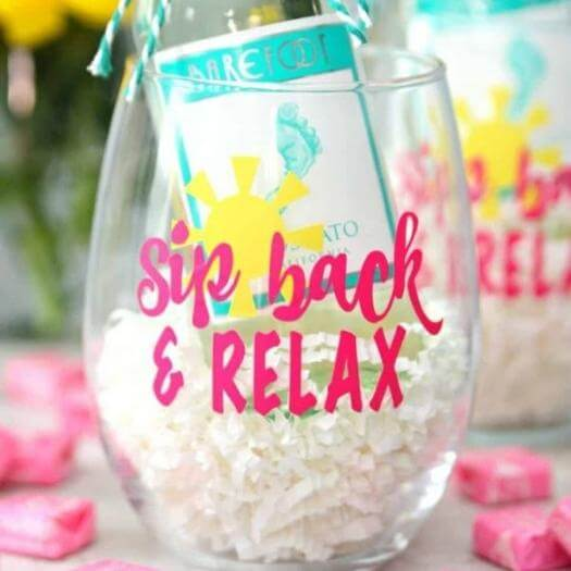 Relax Wine Glasses Unique Mothers Day DIY Homemade Crafting Gift Ideas Inspiration How To Make Tutorials Recipes Gifts To Make
