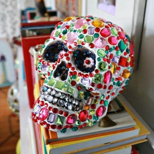 Rhinestone Skull Mexican Mothers Day DIY Homemade Crafting Gift Ideas Inspiration How To Make Tutorials Recipes Gifts To Make