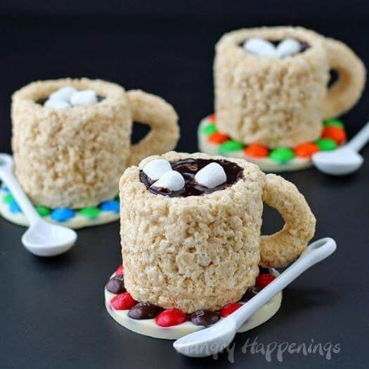 Rice Krispie Treat Cups Easy Last Minute Mothers Day DIY Homemade Crafting Gift Ideas Inspiration How To Make Tutorials Recipes Gifts To Make